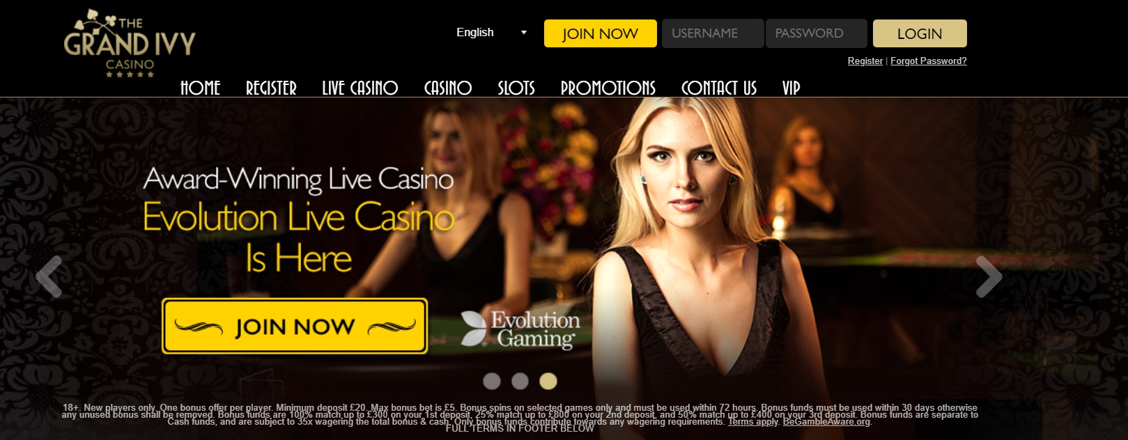 the grand ivy casinogames and slots